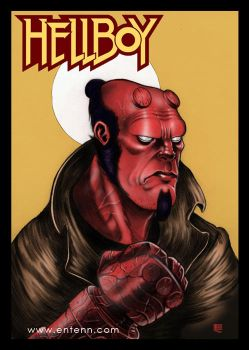 Hellboy by Entenn