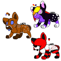 Hyena Adoptables by CollectionOfWhiskers