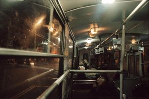 night trolleybus by NanaOsaka