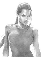 Angelina Jolie - Lara Croft, portrait 2 by alineshenon