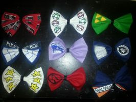 Geek Bow Ties (For Sale on my Etsy!) by sugarpoultry