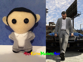 GTA V Plushes: Michael by AkaKiiroMidoriAoi