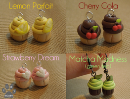 Cupcake Earrings - polymer Clay by claymasey98