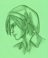 Warmup Sketch: Link 05032012 by BLUEamnesiac