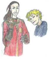 Young Minerva and Rolanda by legalien