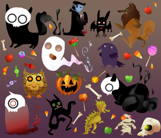 Halloween creatures by Parietaleclipse