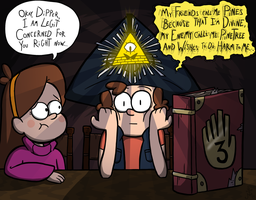Dipper Attempts a Thelemic Ritual by Bradshavius