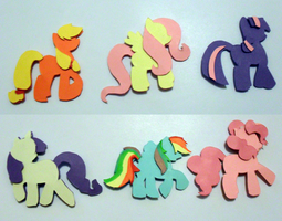 3D pony stickers by Beckit