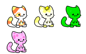 FREE ! candy cat adoptables! OPEN! by FrankinPoodle
