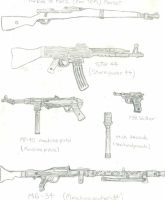 German WW2 weapons by CrashyBandicoot