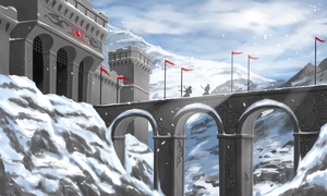 Snow Mountain Fort Concept by RoninDude