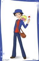 Pokemon trainer Ezeqquiel by firehorse6