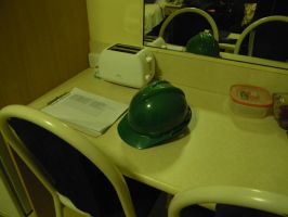 Green Hard Hat by Zomit