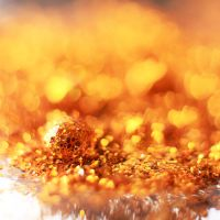 Golden Hearts Bokeh and drop .01. by NumericArt