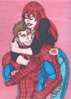 Peter Parker and Mary Jane by RobertMacQuarrie1