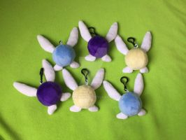Hey listen! Navi, Tatl and Tael Plush Keychains! by Sunflowmon