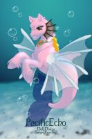 Carl and Hand Banana as Merpony/Seapony Creatures by Fisherella