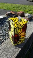 Sunflower stained glass lantern by LoneDireWolfess