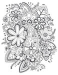Zentangle Coloring Page by Cheekydesignz