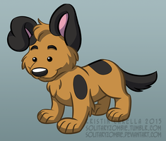 Puppy test illo by solitaryzombie