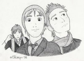 Tom, Harry and Danny by CyberCatTB