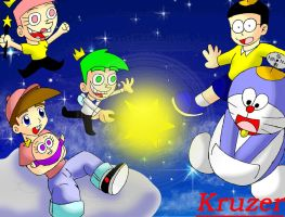 Fairly Odd Parents Vs Doraemon by Kruzer