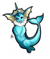 Vaporeon Sticker by Smudgeandfrank