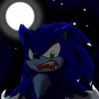 Sonic the werehog by flaky013
