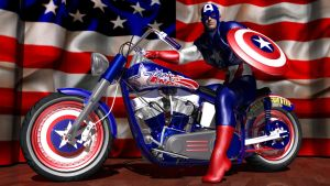 Captain America's Bike by Sailmaster-Seion