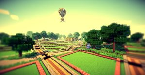 Minecraft - Cityscape Wallpappers by Nsgeo