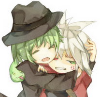Hazama and Ragna by uly-rainy