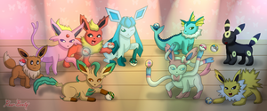 Poke Balls and Eeveelutions by Rose-Beuty