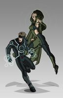X-men Costume Redesign: Havok and Polaris by Hiroki8