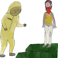 Spitter and Hazmat zombie by Valenmere