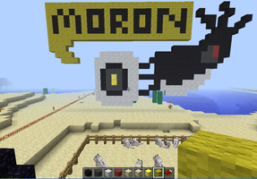 GLaDOS Minecraft by Khateley