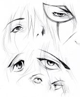 Eyes (pieces) by KaZe-pOn