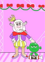King Candy's Xmas Portrait with Sour Bill by DarkwingFan