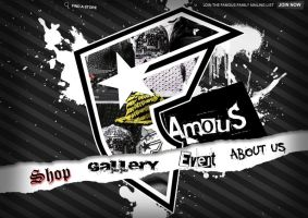 web design for famous by drowz