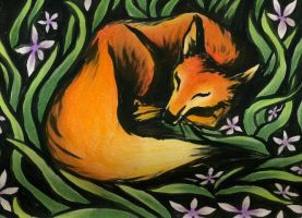Sleeping Fox by KCJoker33