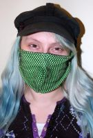 Green Fishnet Ninja Mask by JupiterGurl
