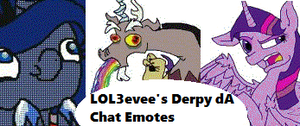 LOL3evee's 17 Derpy deviantART Chat Emotes by LOL3evee