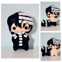 Death The Kid Plushie by Silver-Identity