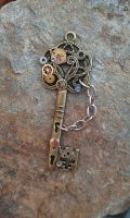 Hands of Time Fantasy Key by ArtByStarlaMoore