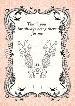 Thank You Flower Pink Card by Pur3Rep0se