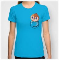 Pepe Pocket Tshirt by Slothgirlart