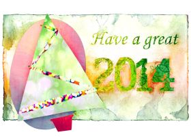 2014 Christmas/ New Year's Card by Blight215