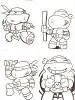 Turtle Sketch Card Pack by norrit07
