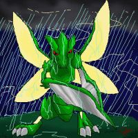 Scyther Warrior by dragonwarriorsaba