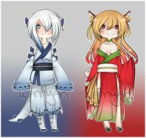Lugia + Ho oh gijinka Adopts [CLOSED] by WanNyan
