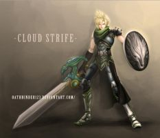 Cloud Strife knight android design by OathBinder123